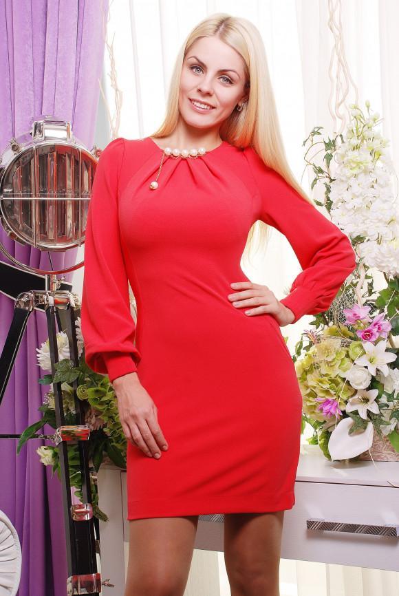 49e7dae0b44 Элегантное красное платье Irena Richi Анабель купить в Киеве