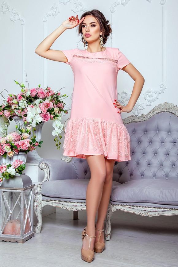 7b8ca32dda9b7cb Романтичное платье из нежнейшего гипюра Daminika 11728 купить в ...