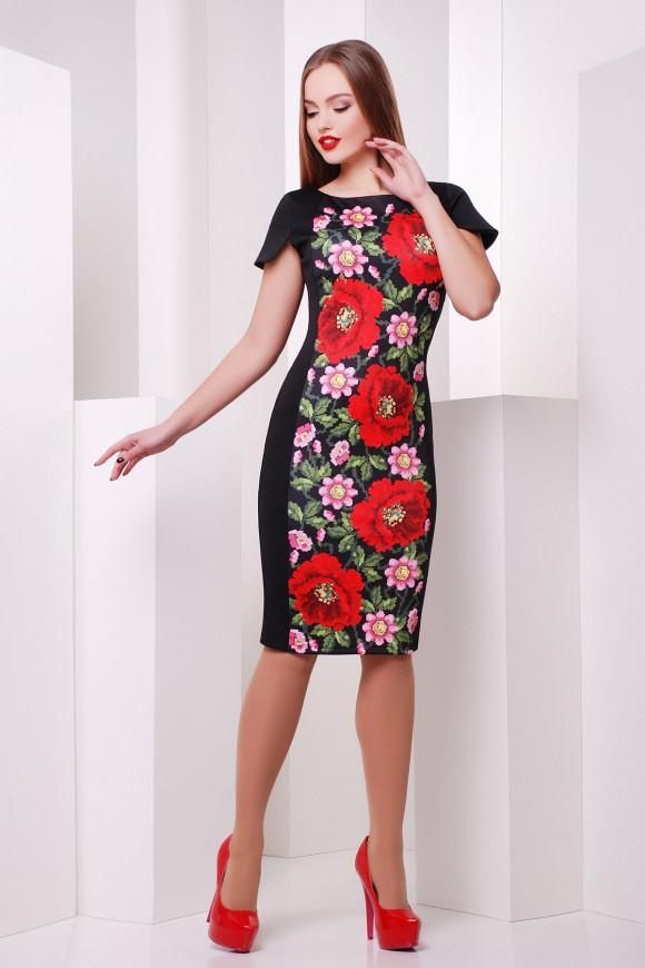 3696c8f9c01 Нарядное платье с маками Glem Питрэса к р купить в Киеве