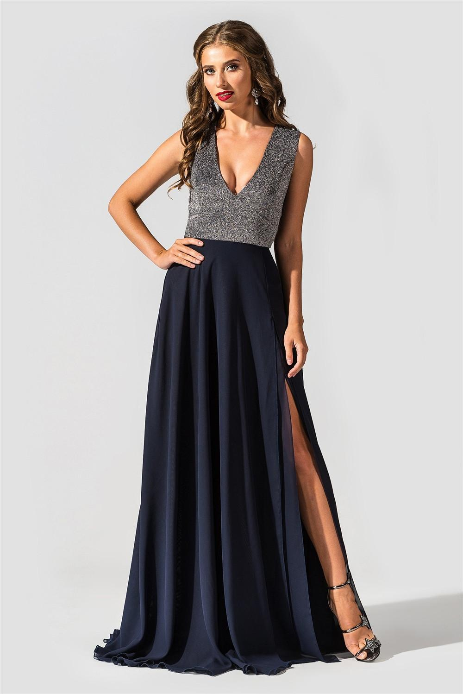 89330c08936 Вечернее платье в пол с шифоновой юбкой TessDress Пенелопа купить в ...