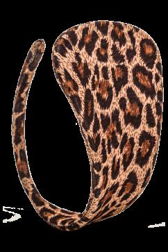Леопардовые стринги без завязок C-string