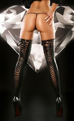 Эротические чулки Lolitta Lacing Stockings