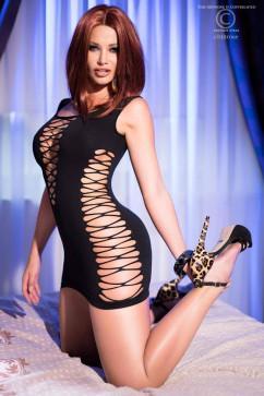 Сексуальное платье с прорезями ChiliRose CR-4096