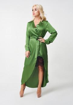 Платье LuxLook на запах с кружевом
