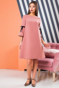 Креповое платье с игривыми бархатными бантами A-Dress 70872