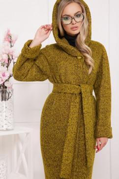Шерстяное пальто с капюшоном Glem П-304-100