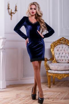 Платье из велюрового трикотажа Seventeen 2441