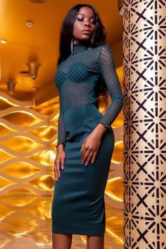 Эксклюзивная нарядная блуза Jadone Fashion Халиси