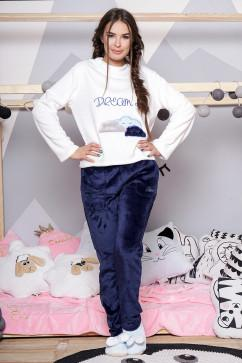 Стильная махровая пижама Daminika 81713