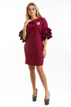 Платье с пышными рукавами The First Land of Fashion Лейла