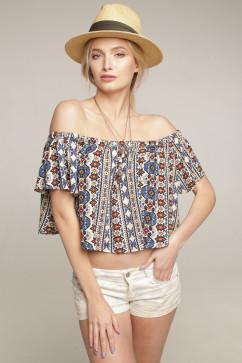 Топ с открытыми плечами «Анжелика» Lavana Fashion EMILIO