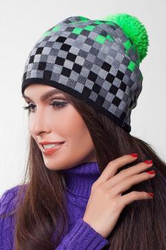 Женская шапка в клеточку Sewel BW275