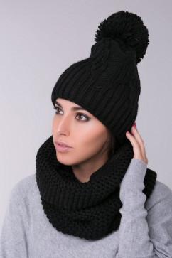 Теплая шапка со структурным рисунком Sewel BW453