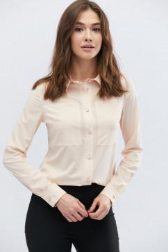 1fca05782b8 Белая блузка из штапеля с черными бантами A-Dress 50060 купить в ...