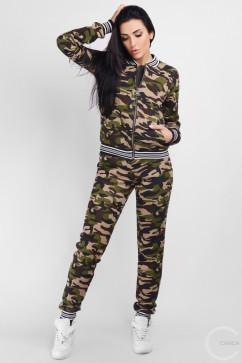 Спортивный костюм из бомбера и штанов Carica KM-2116