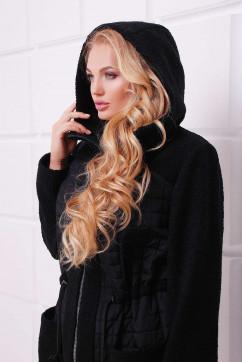 Легкое комбинированное пальто Tatiana НОРА