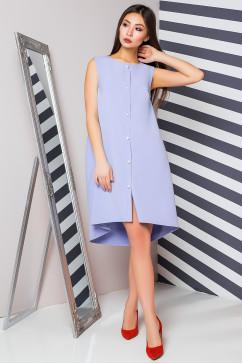 Креповое платье с оригинальным низом и эффектными пуговицами A-Dress 70882
