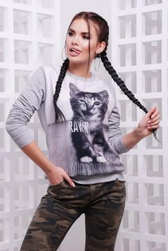Свитшот с котиком FashionUp KF-1579
