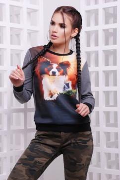 Свитшот с собачкой FashionUp KF-1580