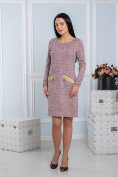 Строгое платье с золотыми молниями A-Dress 70711