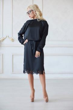 Платье LuxLook Шелк с кружевом