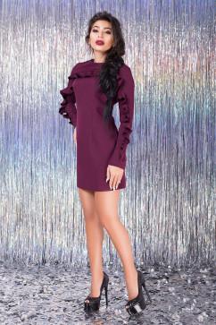 Платье с оборкой на кокетке Luzana Карлин