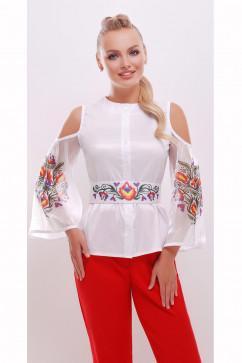 Блузка с вырезами на плечах Glem Любава д/р