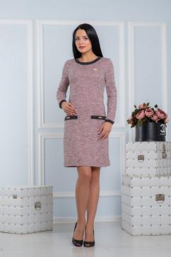 Платье-футляр с жемчужными украшениями A-Dress 70710