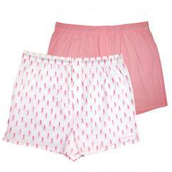 Мужские трусы шортиками Hustler розового и однотонного цвета - 2 шт.