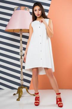 Эффектное белое платье оригинального кроя A-Dress 70880