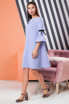 Расклешенное платье с бархатными лентами A-Dress 70871
