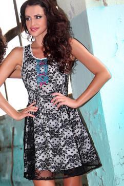 Платье декорированное гипюром Pigeon P-347