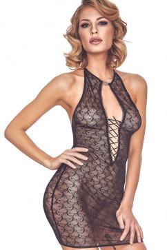 Прозрачное платье на шнуровке Anais Cylenne