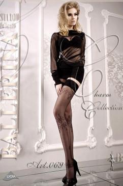 Чулки со стильным узором Ballerina 069