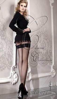 Сексуальные чулки с ажурной стрелкой Ballerina 071