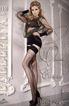 Красивые женские чулки с кружевной резинкой Ballerina 072