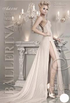 Стильные колготки белого цвета Ballerina 086