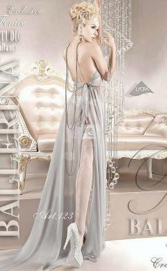 Белые чулки со стрелкой Ballerina 123