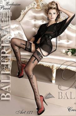 Черные чулки с имитацией пояса Ballerina 127