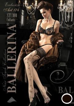 Стильные черные чулки Ballerina 174
