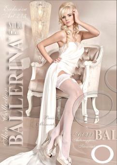 Бежевые чулки с нарисованной сеточкой Ballerina 233