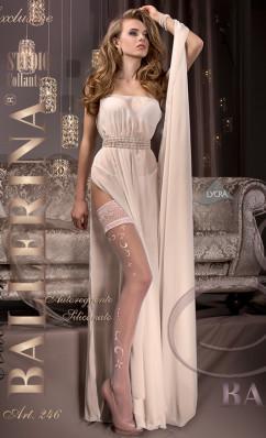 Чулки для невесты с ажурной резинкой Ballerina 246