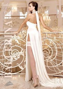 Белые чулочки с ажурными завитками Ballerina 255