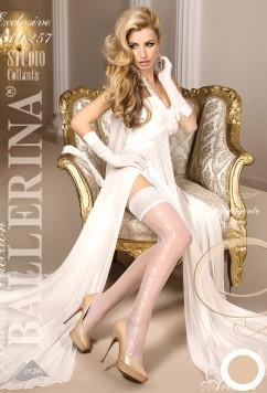 Модные чулочки с ажурной полоской Ballerina 257