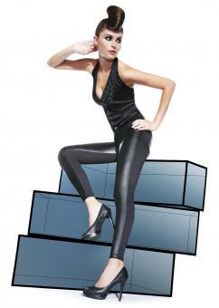 Леггинсы с двумя текстурами ткани Bas Bleu Ingrid