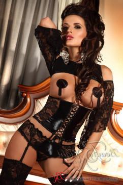 Эротический комплект с подвязками для чулок Beauty Night Priscilla