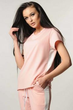 Блузка с боковыми вставками «лампасами» Ри Мари Нои