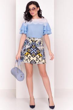 Блузка с короткими рукавами-воланами Modus Ирис 4835