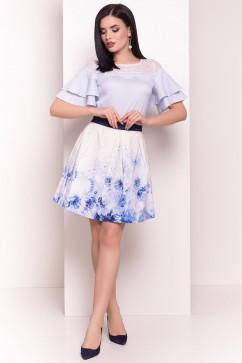 Блузка с кружевной вставкой Modus Ириска 4962
