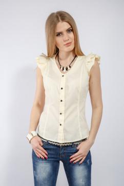Блузка с сборкой и кружевом InRed Венера
